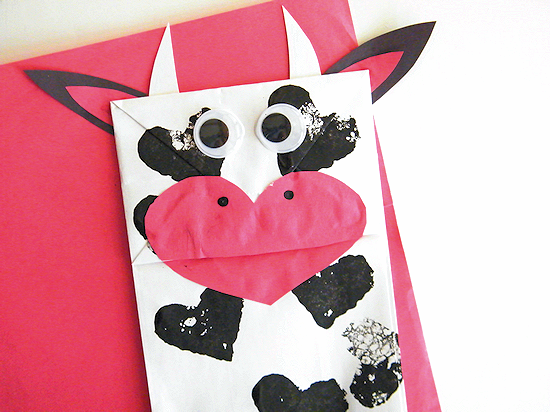 The Love Cow Paper Bag Valentine's Day Craft
