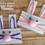 Craft Stick & Puffy Paint Bunnies