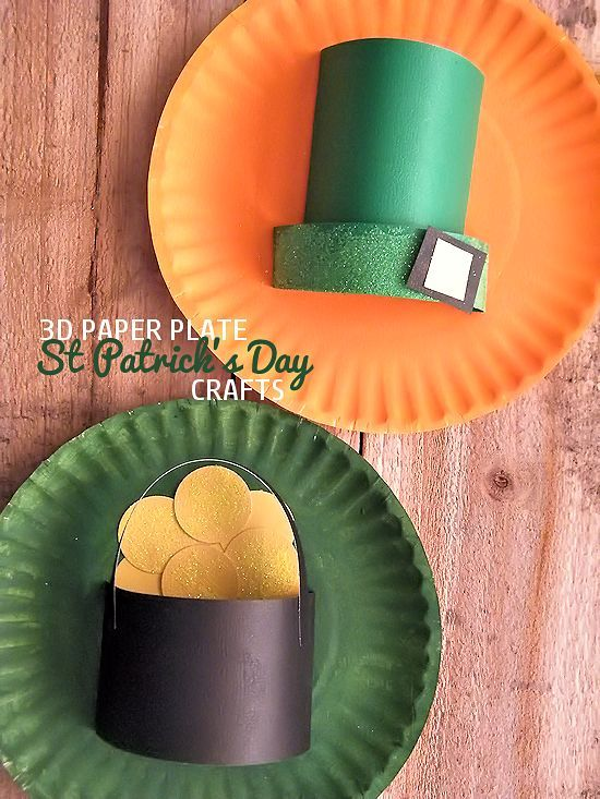 3d Paper Plate St Patrick S Day Crafts Our Kid Things