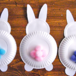 Cotton Tail Bunny Behinds Easter Craft