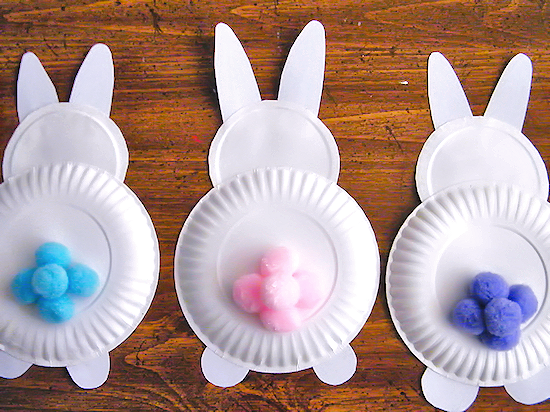 Cotton Tail Bunny Behinds Easter Craft Our Kid Things