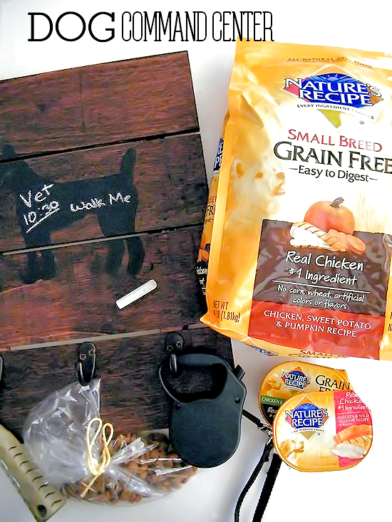 DIY Dog Command Center #NutritionWorthWaggingFor #ad