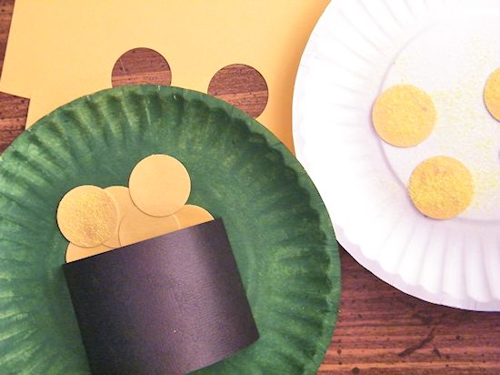 3D Paper Plate Leprechaun Hat and Pot O' Gold St Patricks Day Crafts