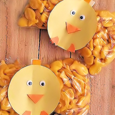 Spring Chick Snack Clips
