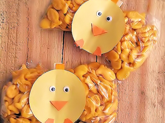 Spring Chick Snack Clips #GoldfishMoments (ad)