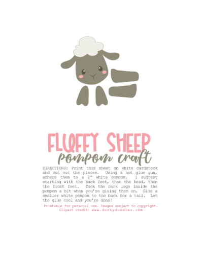 picture about Sheep Craft Printable known as Sheep PomPom Craft No cost Printable Our Boy or girl Factors