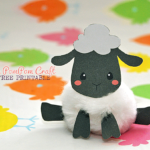 Sheep PomPom Craft Free Printable