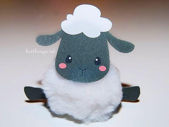 Sheep Pompom Craft Free Printable Our Kid Things
