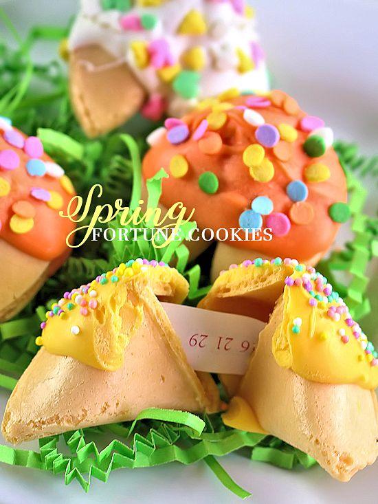 Spring Fortune Cookies Spring Treat Kid Food