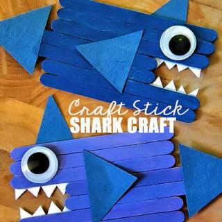 Craft Stick Shark Craft
