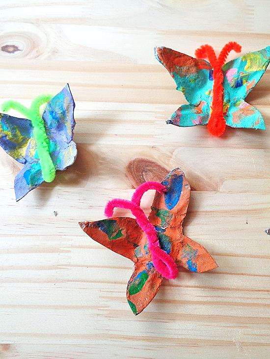 Egg Carton Butterflies Craft, Spring Craft