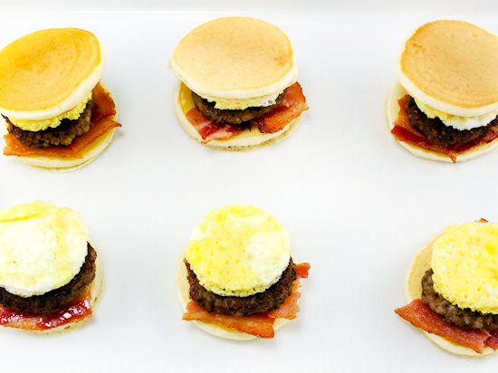 Breakfast Pancake Sliders Easy Breakfast Recipe