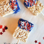 Patriotic Cereal Treat Pops