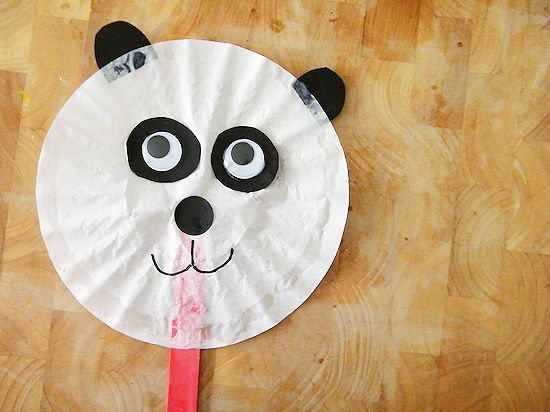 Coffee Filter Panda Craft #FriedRiceFriday #IC (ad)