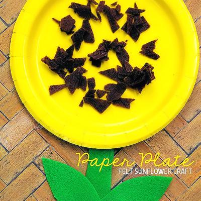 Paper Plate Felt Sunflower