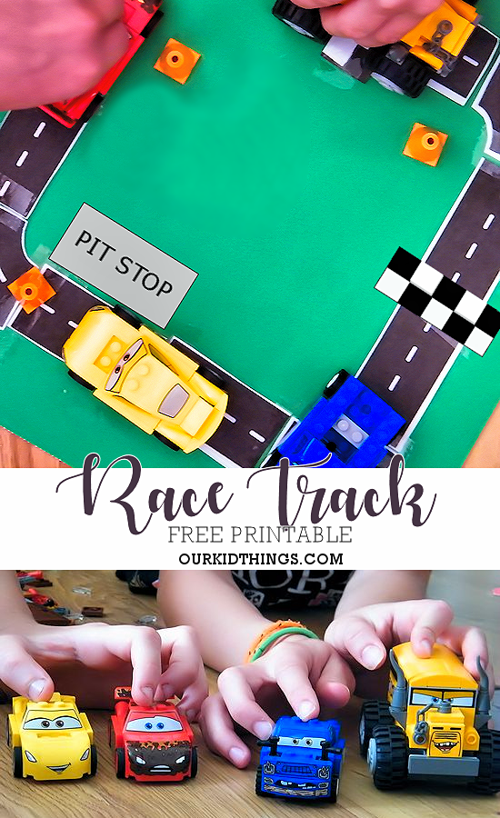 image relating to Race Track Printable called Totally free Printable Race Keep track of Sport Our Baby Elements