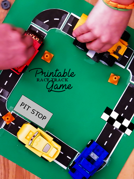 Free Printable Race Track Game #UltimatePitStop (ad)