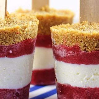 Frozen Strawberry Cheesecake Pops