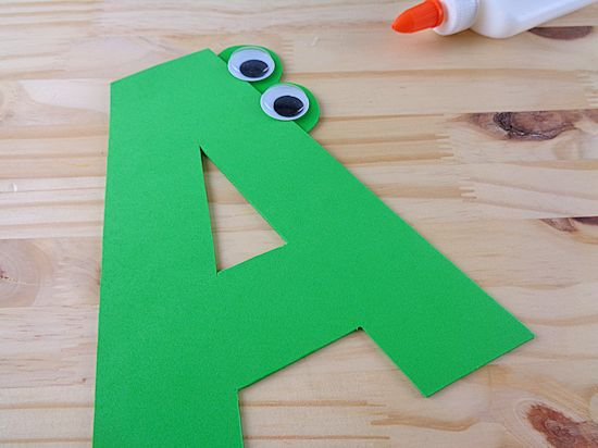 A is for Alligator Letter A Craft with Free Letter A Printable Template