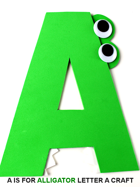 A Is For Alligator Letter A Craft Our Kid Things