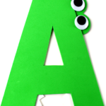 A is for Alligator Letter A Craft