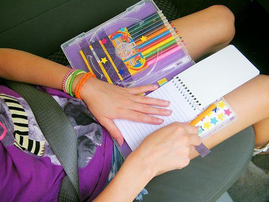 Kids DIY Travel Art Case #RoadTripOil (ad)