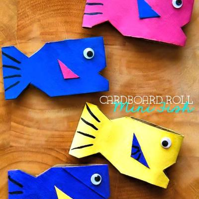 3D Cardboard Roll Mini Fish