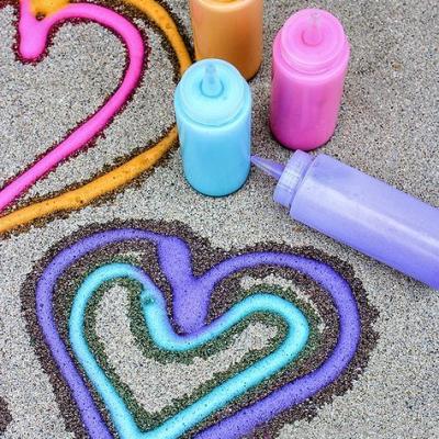 DIY Foam Soap Sidewalk Paint