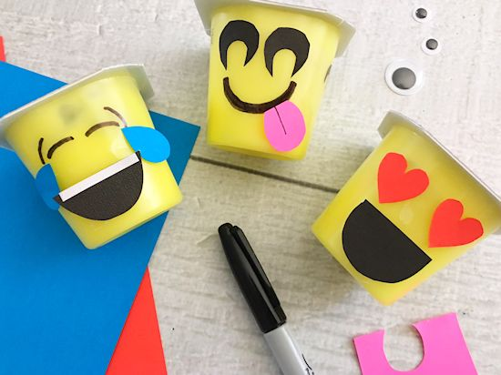 Emoji Pudding Cups Back to School Lunchbox Craft