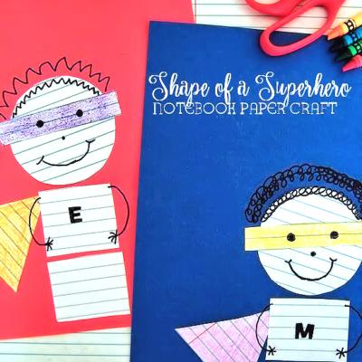 Back to School Superhero Notebook Paper Craft