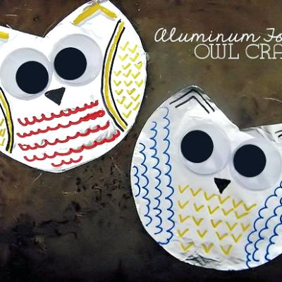 Aluminum Foil Owl Craft
