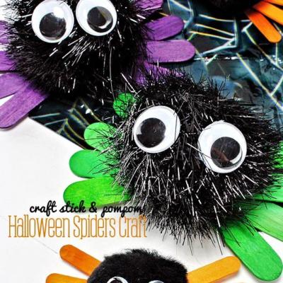 Halloween Spiders Craft