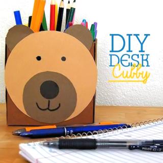 DIY Desk Cubby