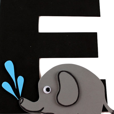 E is for Elephant Letter E Craft