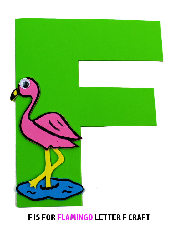 Flamingo Beak Template | F Is For Flamingo Letter F Craft Our Kid Things