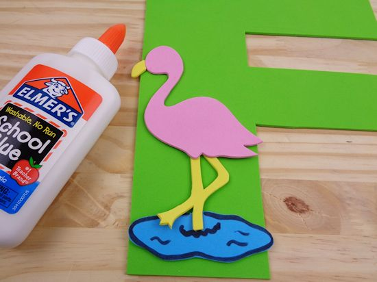 F is for Flamingo Letter F Craft