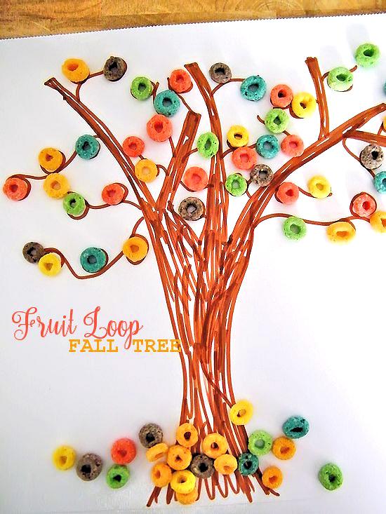 Fruit Loop Fall Tree Craft Our Kid Things