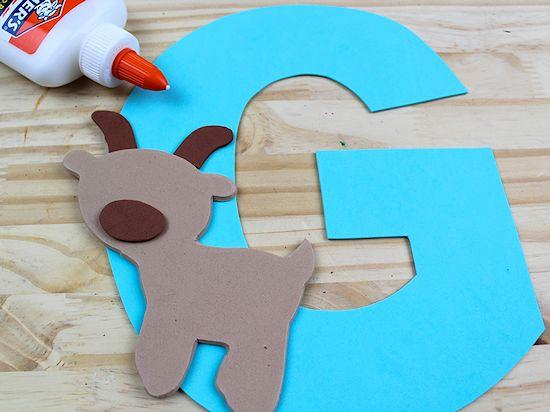 G is for Goat Letter G Craft, Preschool Toddler Craft
