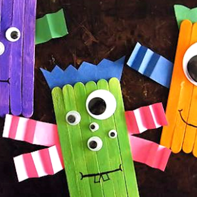 Craft Stick Monsters