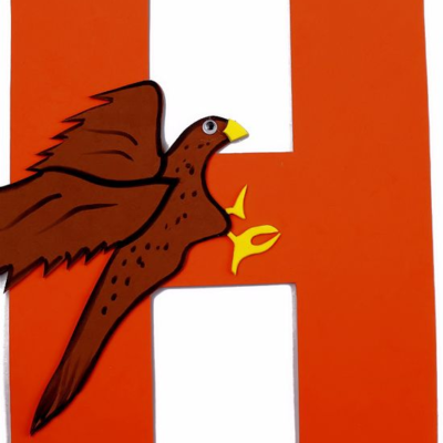 H is for Hawk Letter H Craft