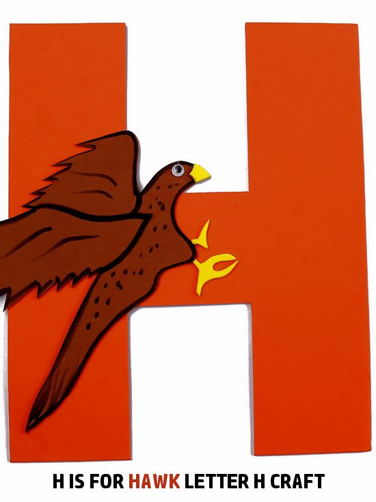 H is for Hawk Letter H Craft, Preschool Toddler Craft, ABC Letter Series Craft