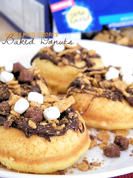 Honey Maid S'mores Baked Donuts Recipe with the #BestCerealEver @HyVee (ad)