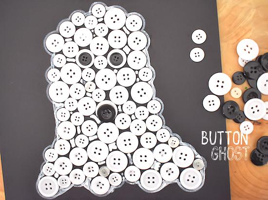 Halloween Button Ghost Craft