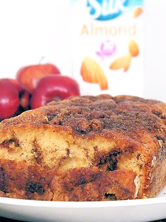 Dairy-Free Apple Pie Bread Recipe #SameSilkySmoothTaste (ad)