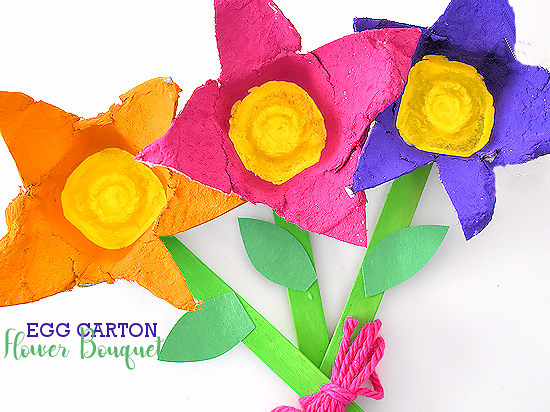 Egg Carton Flower Bouquet Craft Our Kid Things