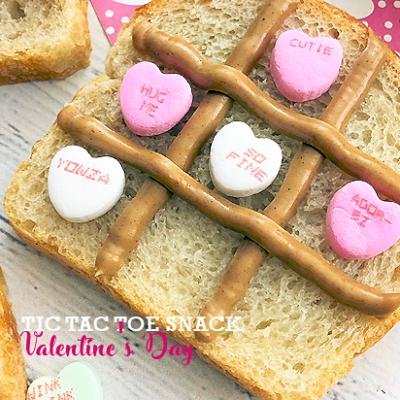 Tic Tac Toe Valentine's Day Snack