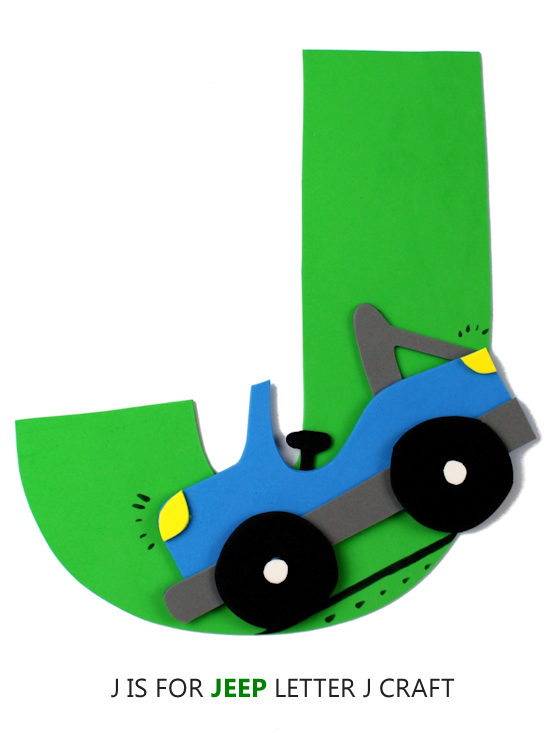 J Is For Jeep Letter Craft Preschool Toddler ABC Series