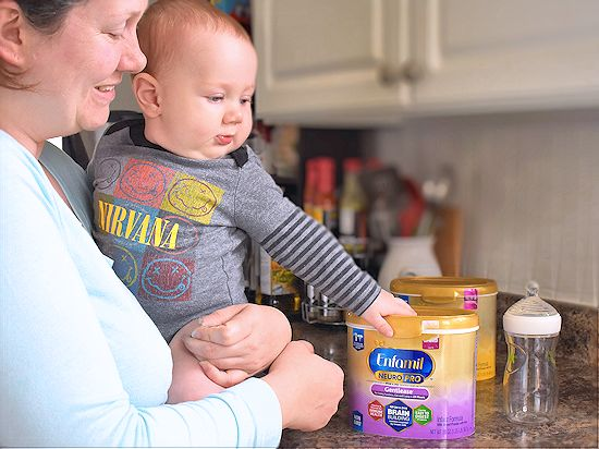 "For All the Firsts of Baby's First Year, begin by nourishing their brain first with Enfamil NeuroProâ""¢ AD"