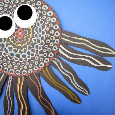 Black Paper Octopus Craft and Art Project