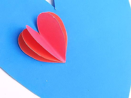 3D Heart Air Balloon Valentine's Card with Free Printable Template